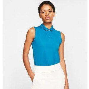 Nike Women's Green Dry Sleeveless Polo Shirt NWT